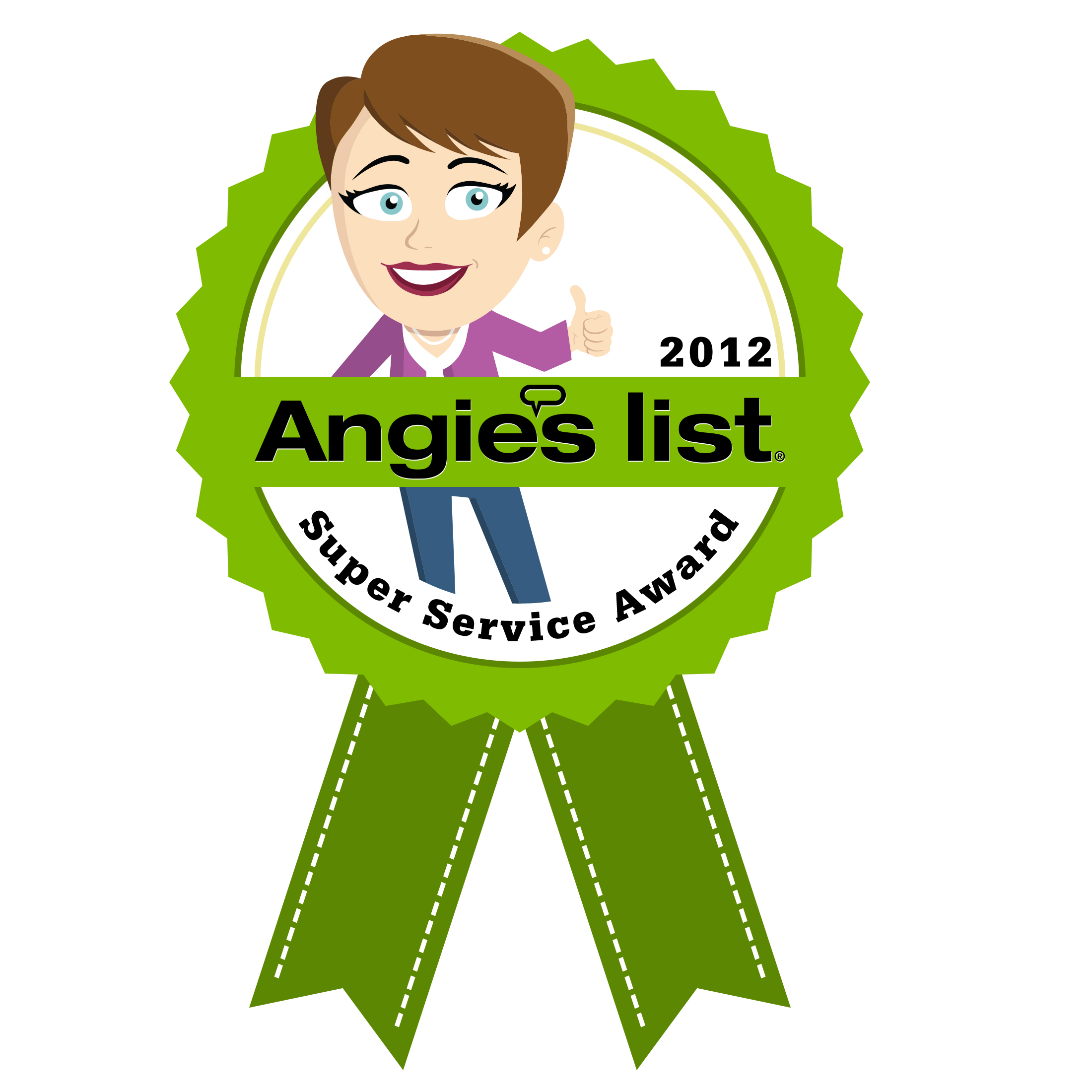 Angie's List 2012 Super Service Award!
